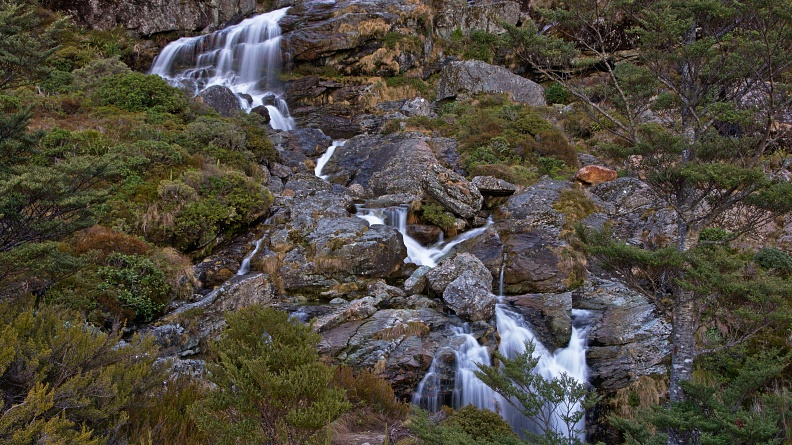 Cascading Routeburn Falls