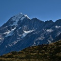 First view of Mount Cook summit