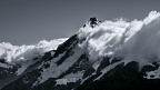 Mount Sefton in clouds
