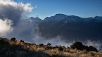 Murchison Mountains and cloud above South Fiord of Lake Te Anau