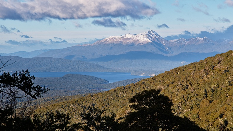 Mt Titiroa and Lake Manapouri