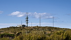 Transmission tower mast on Swampy Summit